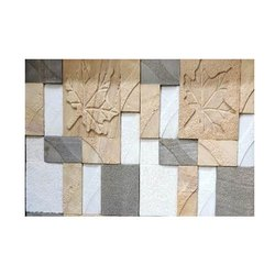 Pashan Craft Carved Teak Cnc Tri Color Stone, For Wall Cladding, Thickness: 16 Mm