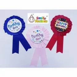 Birthday Pin On Ribbon Badge
