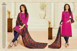 Round Neck Monalisa Salwar Suit Fabric