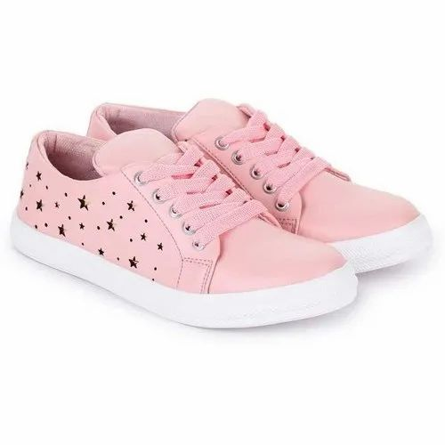 Pink Ladies Synthetic Leather Casual