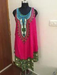 Printed Rayon Umbrella Dress