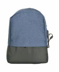 Anti Theft Blue and Black Laptop Bag