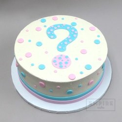 Groovy Wanors Round Eggless Baby Shower Birthday Cake Weight 1Kg Rs Funny Birthday Cards Online Amentibdeldamsfinfo
