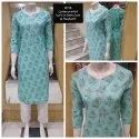 Cotton Casual Wear 44 Plus Length Kurti