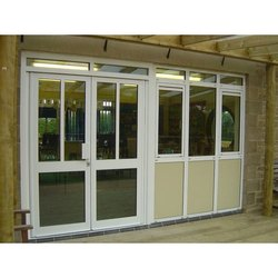 Aluminum Glass Hinged Door for Office, Thickness: 7 to 10 mm
