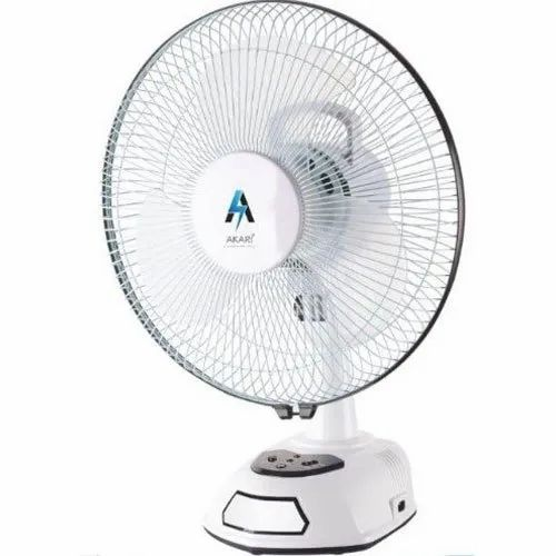 AK-8012R Rechargeable Fan with LED Light