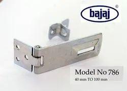 Mild Steel Bajaj 786 Safety Door Hasps, 6 Mm, Size: 40 Mm