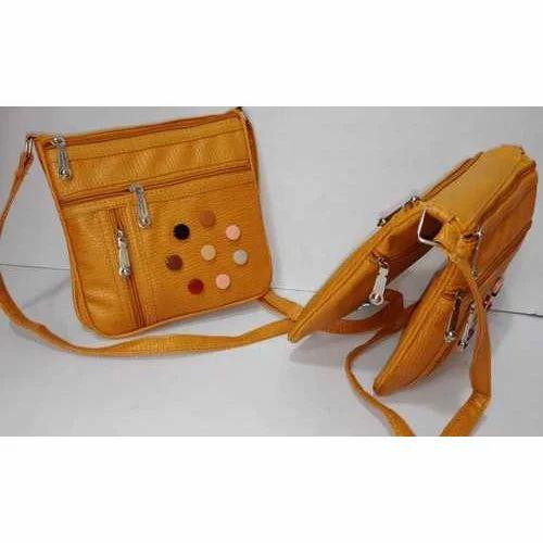 9ea16cf3853 Rexine Ladies Trendy Sling Bag, Rs 100 /piece, New Wahid Bag | ID ...