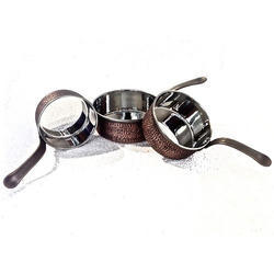 Smokey Finished Copper Mini Saucepan Dishes