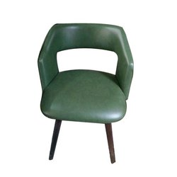 Modern Leather Top Wooden Chair, No Of Legs: 4