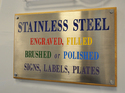 Stainless Steel Signage Board