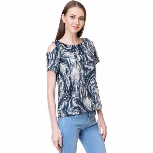 f2edfd5faf262 Ladies Cotton Stylish Cold Shoulder Top