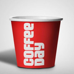 Red Disposable Coffee Cup