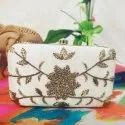 Party Wear Hand Embroidered Box Clutch