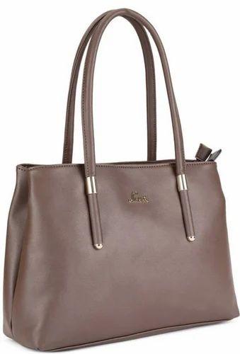 Shoulder Bag Brown Lavie Ladies Leather Hand Bag, for Office