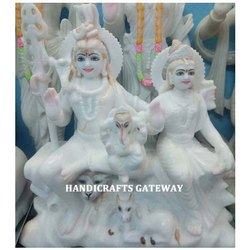 White Makrana Marble Shiv Pariwar Statues