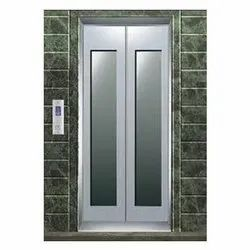 Glass and Stainless Steel Automatic Elevator Door
