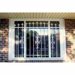 Steel Color Coated Designer Window Grill, Rectangular