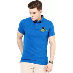 Cotton Plain Mens Half Sleeves T Shirts