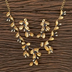 Designer Gold Plated Classic Necklace 406301