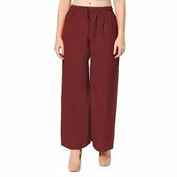 Rayon Casual Wear Ladies Palazzo Pant