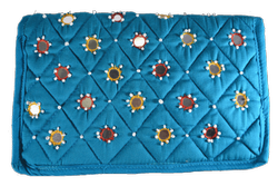 Printed Multicolor Cloth Purse with Mirror Work