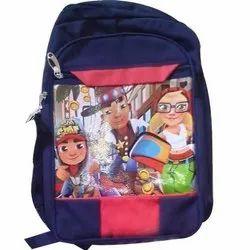 Polyester Blue Kids School Bag