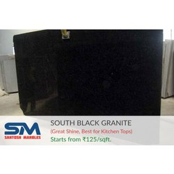 Galaxy Smooth South Black Granite, Thickness: 15-20 mm, South India