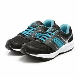 Mens Black Sea Green Lace Up Synthetic Walking Shoes
