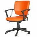 Orange Leatherite Ergonomical Chair