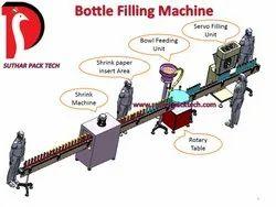 6 Head Auger Base Bottle Or Jar Filling Machine
