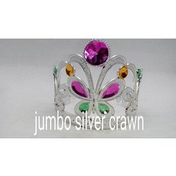 JUMBO Silver Birthday Crown