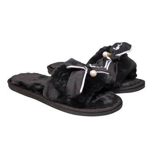 7c5f3d268 Casual Wear Women Black Slippers, Rs 235 /pair, RD Fashion Freak ...
