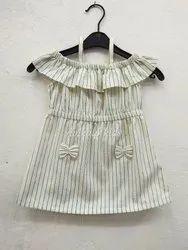 Casual Stripe Kids Frill Dress