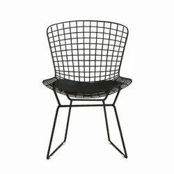 Black Rajtai Metal Chair For Hotel / Restaurant