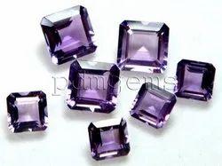 Amethyst Faceted Octagon Gemstone