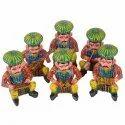 Wooden Rajasthani Musician (6 Pcs Set)