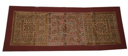 Indian Hand Embroidered Wall Decor Handmade Mirror Work Wall Hanging Tribal Gypsy Wall Tapestry
