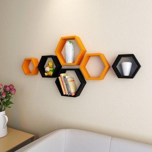 Decornation Set Of 6 Hexagon Shelves At Rs 1899 Unit Decorative