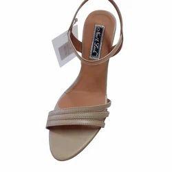 Cream Party Wear Sandal