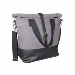 Light Purple And Black Die Cast Matte Finish Laptop Sling Bag, JGZ 187, For Use To Carry Things