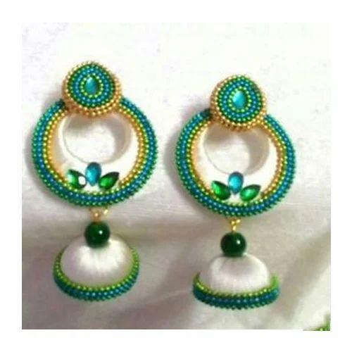 08e55020c Silk Thread Chandbali Jhumka, Packaging Type: Box, Rs 150 /pair   ID ...