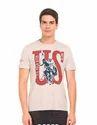Us Polo Assn Denim Co Men Brand Print Crew Neck T Shirt