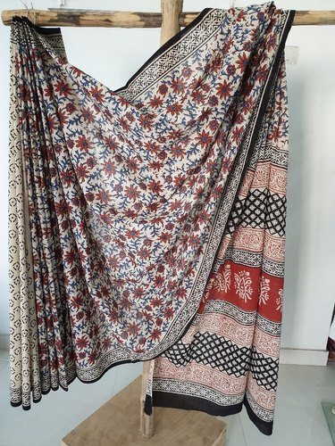 Cotton Hand Block Print Saree