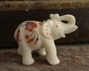 White Stone Inlay Elephant