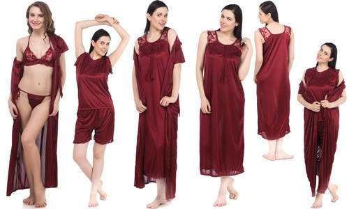 Ladies Nighty - Ladies Three Piece Fancy Nighty Manufacturer from Mumbai b2a91f605