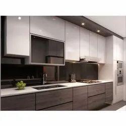 Stainless Steel Straight Metallic Modular Kitchen, Warranty: 5 Years