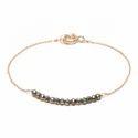 Beautiful Trendy Fashionable Peridot  Beads Strand Bracelet Micron Gold Plated
