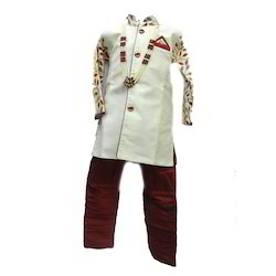 Party Wear Artificial Silk Kids Designer Sherwani