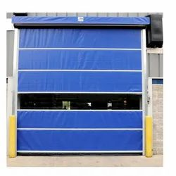 Open Blue Pvc High Speed Doors, For Doorr, Size/Dimension: 100
